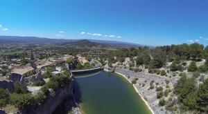 le barrage de Saint Saturnin d'Apt